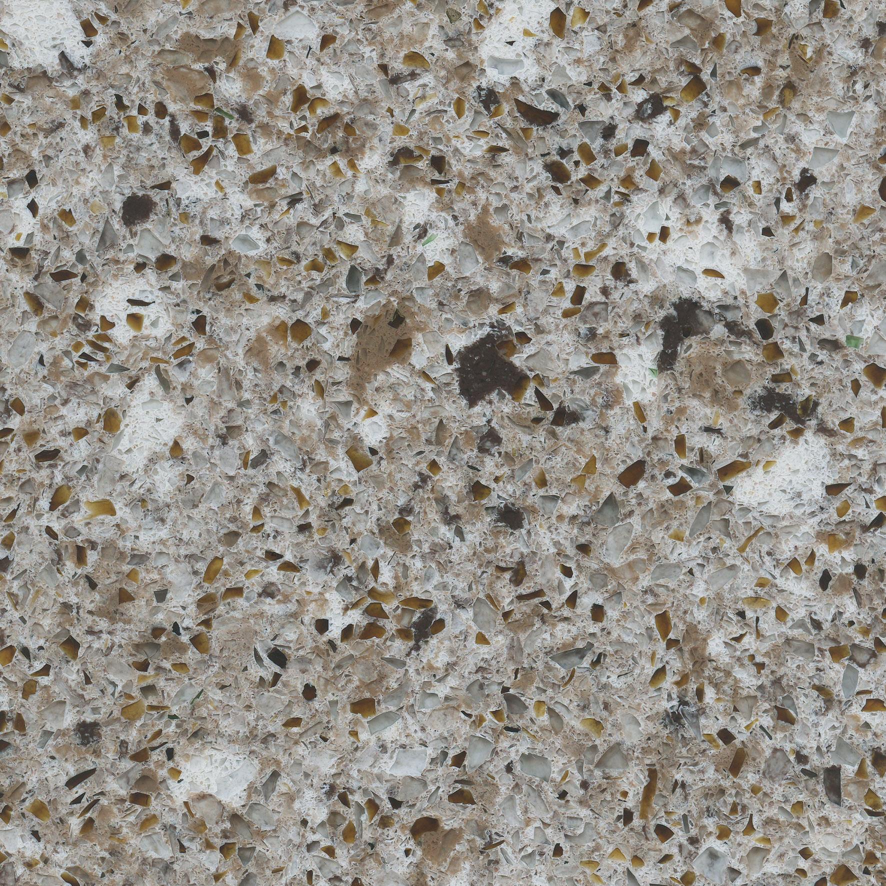 Forest snow eco recycled quartz countertop colonial for Silestone o granito