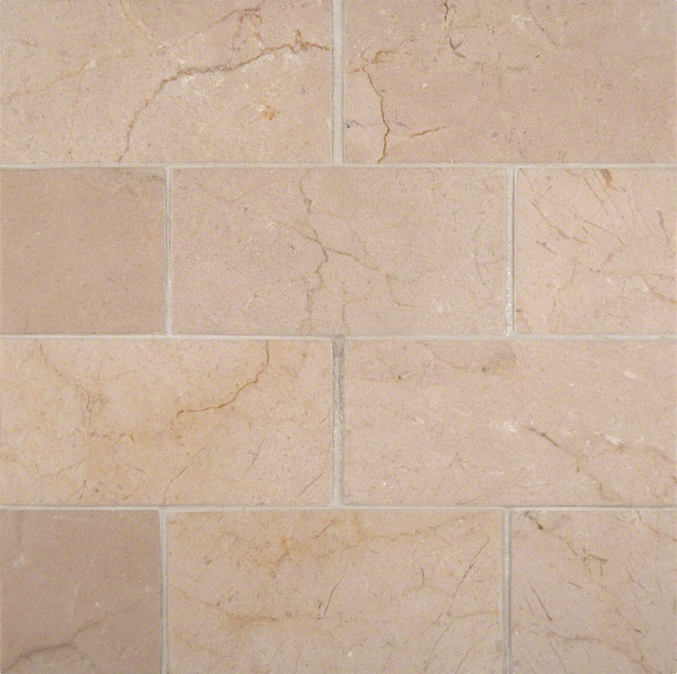 Crema Marfil 3x6 Honed And Beveled Tile Colonial Marble