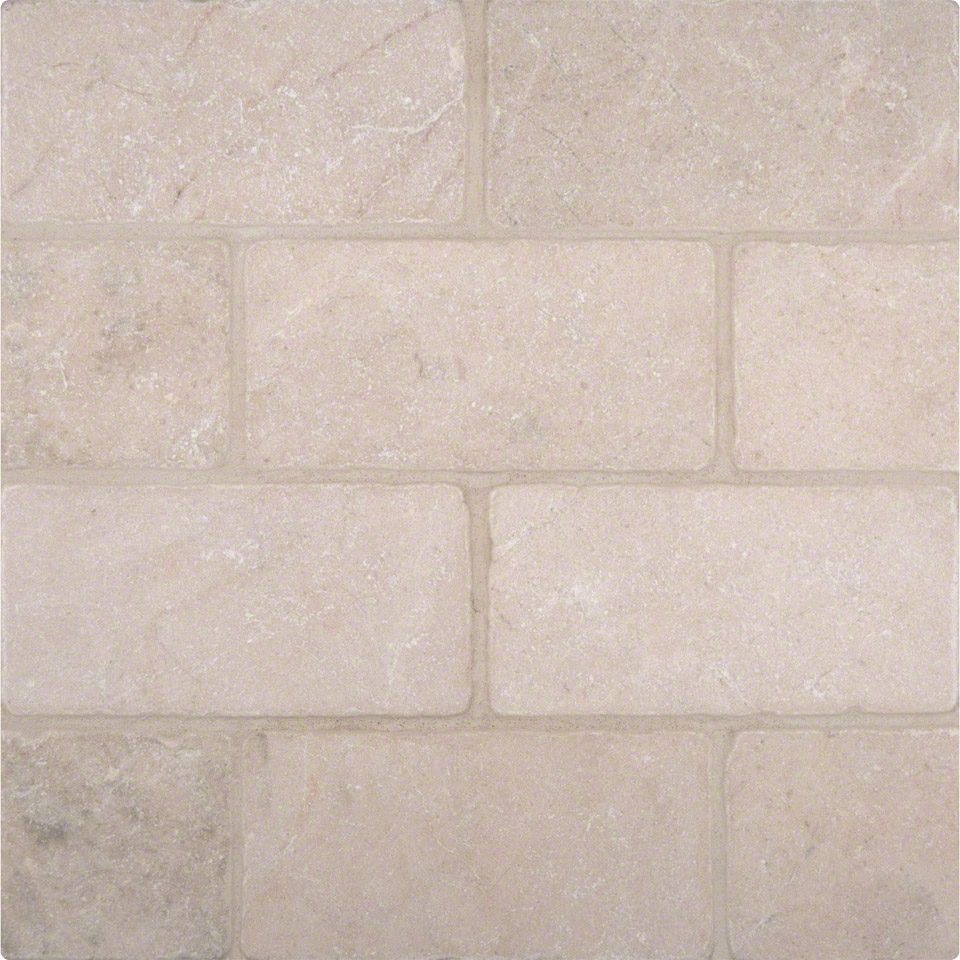 Crema marfil 3x6 tumbled tile colonial marble granite for Tumbled glass tile