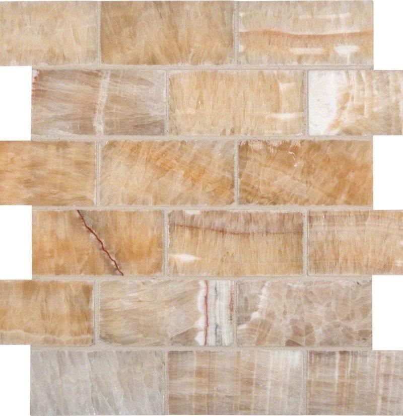Honey Onyx 2x4x8mm Subway Tile