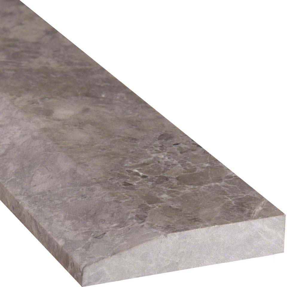 Tundra gray 4x36 single hollywood threshold polished colonial marble