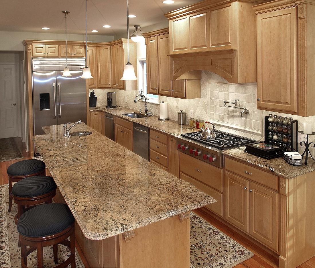 Titanium Granite Kitchen Natural Stone Kitchen Colonial Marble Granite